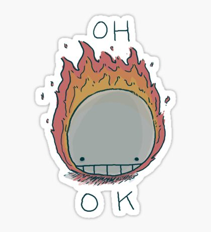 Death On Fire Sticker