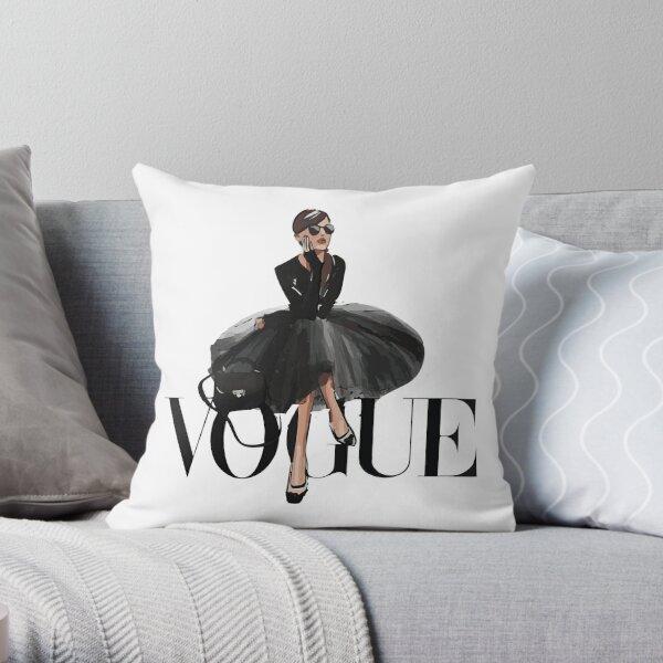 Vintage Vogue Poster Throw Pillow