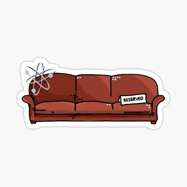 big bang theory my spot Sticker