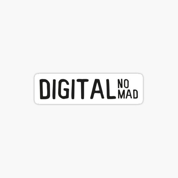 Nómada digital Pegatina