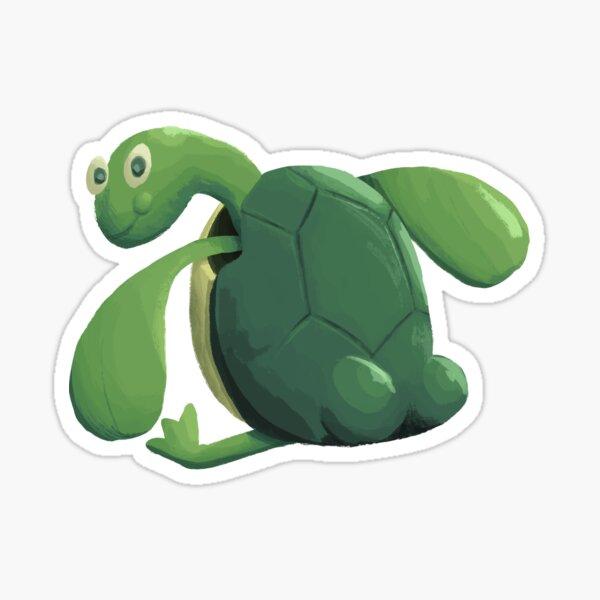 Turtle Butt Glossy Sticker