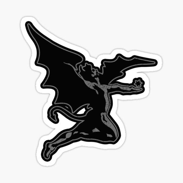 Metal Devil (Grey distressed design) Sticker