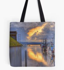 Burning Clouds in the Harbor Tote Bag