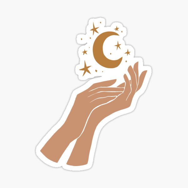 Magic Hands, Moon & Stars 3 Sticker