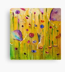 Butterflies & Blooms Canvas Print