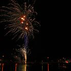 Christmas Fireworks by the Lake by Sea-Change