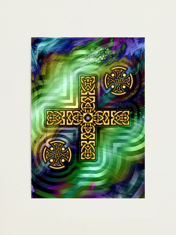 Alternate view of Celtic Cross Photographic Print