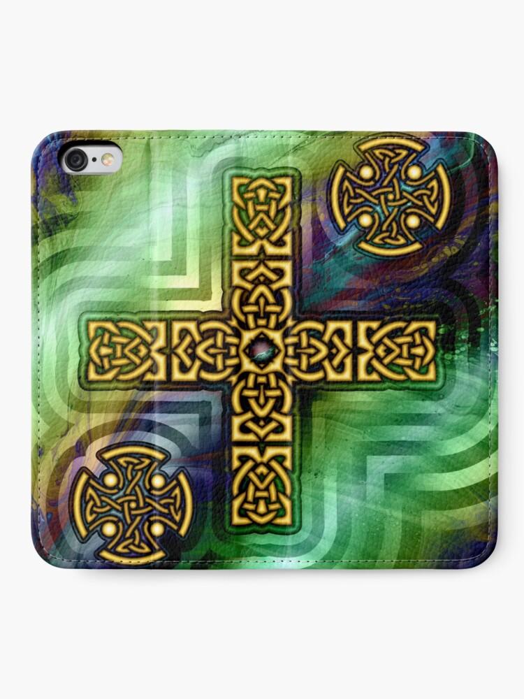 Alternate view of Celtic Cross iPhone Wallet
