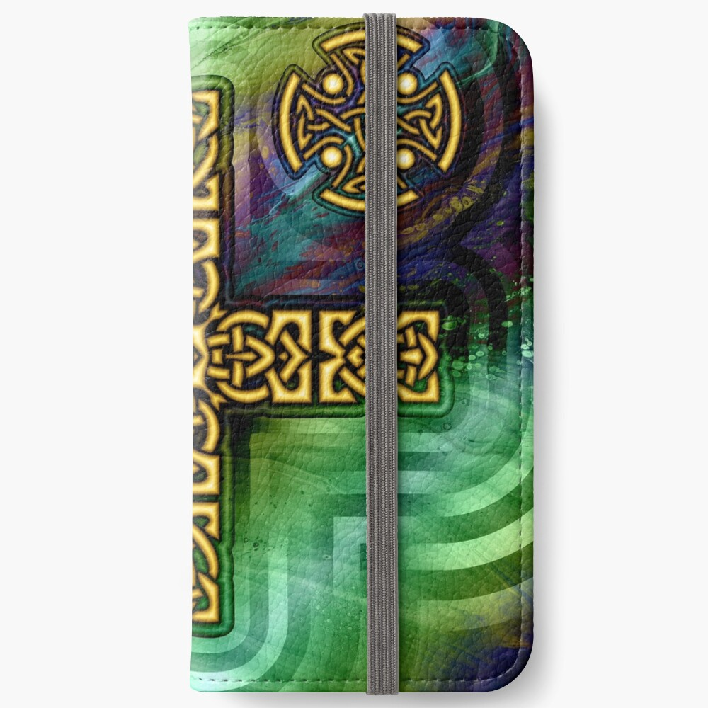 Celtic Cross iPhone Wallet