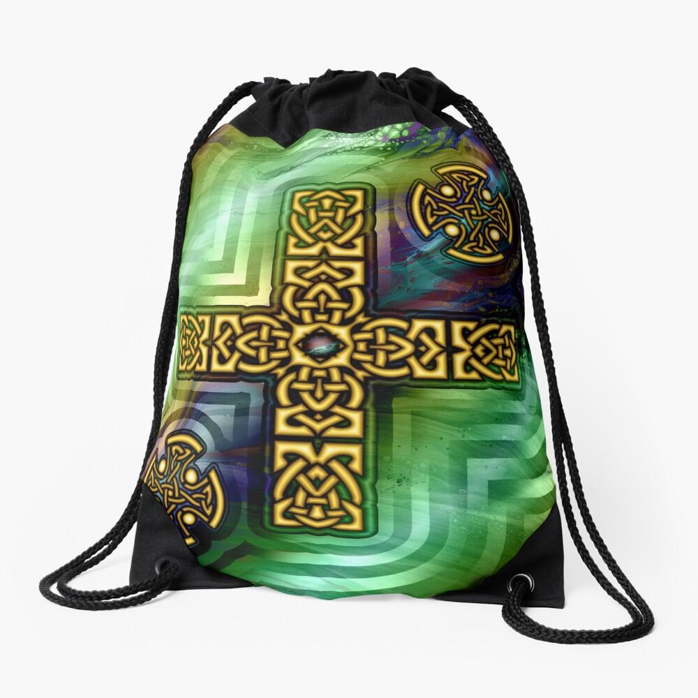 Celtic Cross Drawstring Bag