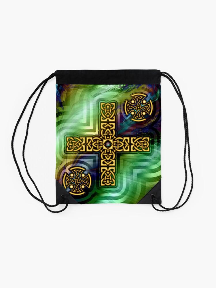 Alternate view of Celtic Cross Drawstring Bag