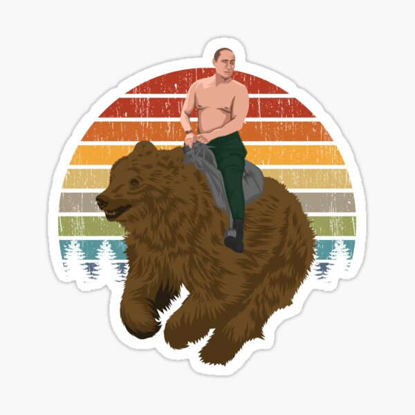 Vladimir Putin Riding A Russian Bear Sticker By Wonder Designs Redbubble