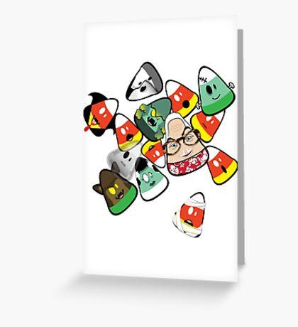 Horror Corn :) Greeting Card
