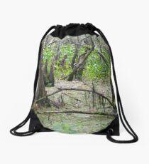 Swamp Floor Drawstring Bag