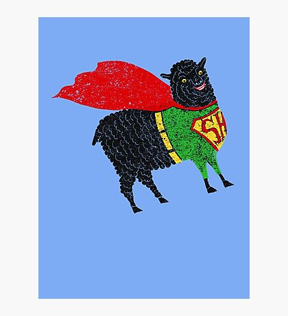 Superhero  Sheep Photographic Print