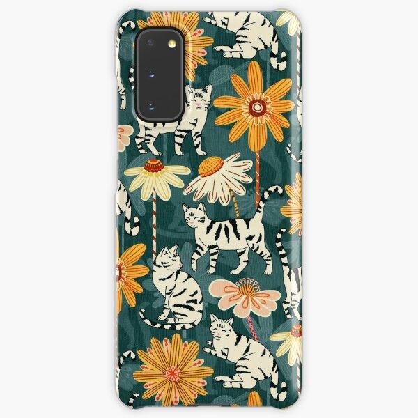 Daisy Cats - Navy  Samsung Galaxy Snap Case