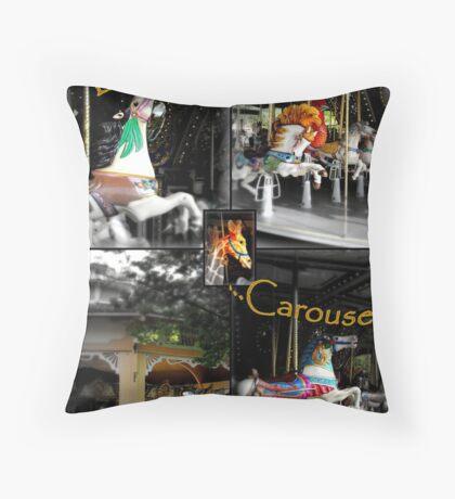 life's a carousel! Throw Pillow