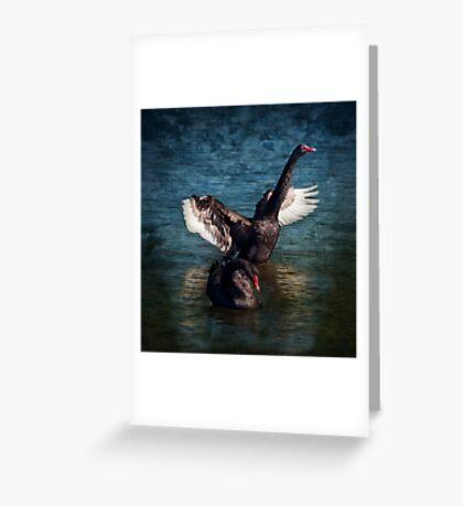"""""""Black Swan Lake"""" Greeting Card"""