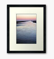Tide Going Out... Framed Print