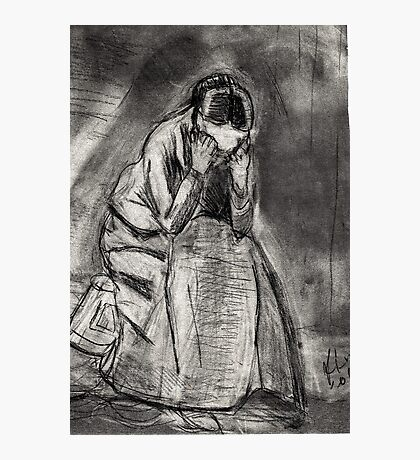 Weeping Woman(after Van Gogh) Photographic Print