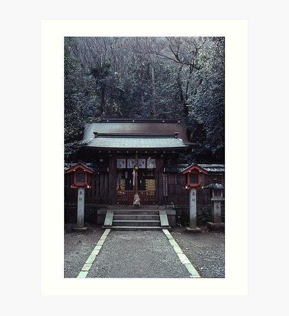 Small shrine, Arashiyama Art Print