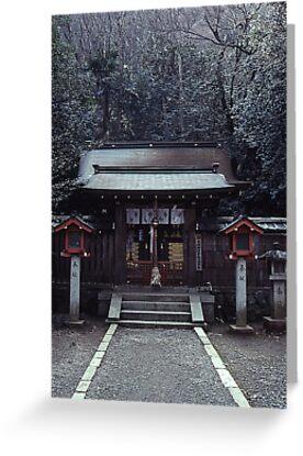 Small shrine, Arashiyama by Maggie Hegarty