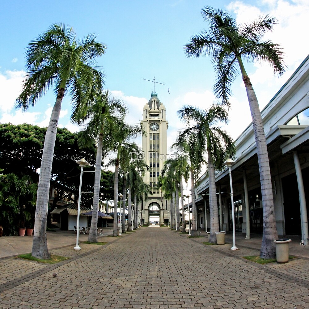 Aloha Tower - Honolulu by DJ Florek