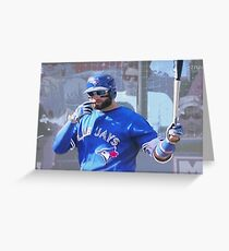 Kevin Pillar  Toronto Blue Jay Greeting Card
