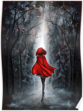 Quot Little Red Riding Hood Quot Posters By Annya Kai Redbubble