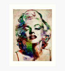 Marilyn Monroe Urban Art Art Print