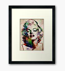 Marilyn Monroe Urban Art Framed Print