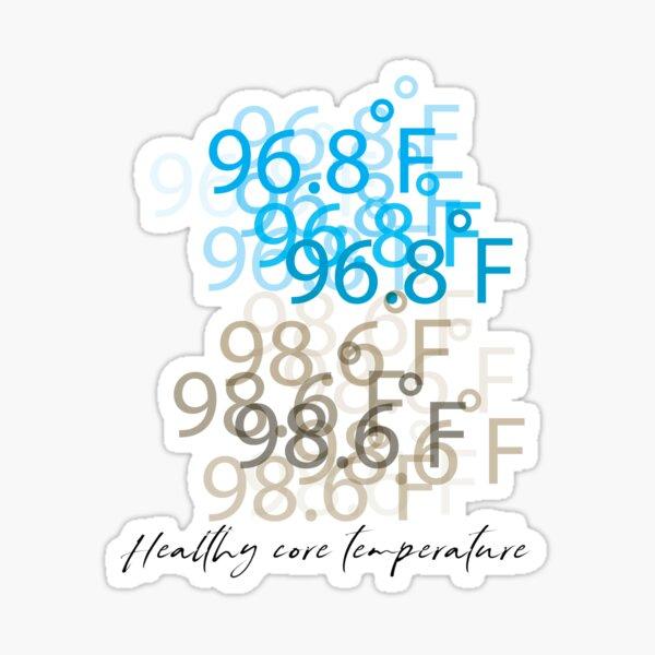 96.8 ํF-98.6 ํF Healthy core temperature Sticker