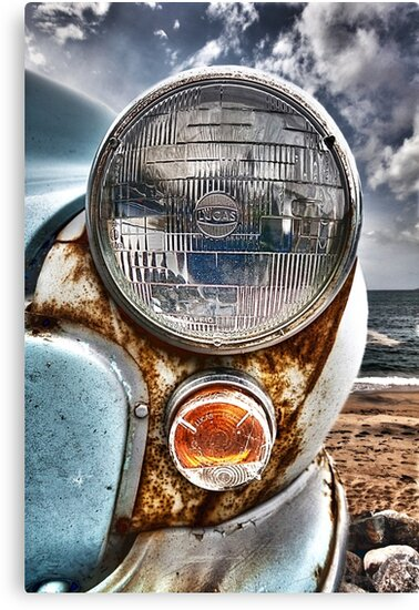 Vintage Morris Minor in Cornwall by Lucy Davey