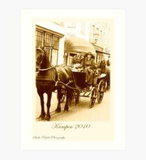 Postcard vintage horse carriage event Kampen 2010 Art Print