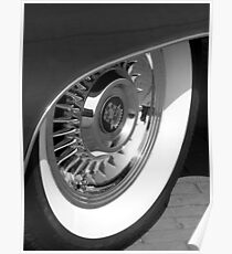 Black & White wall tyre Poster