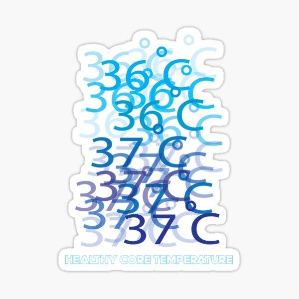 36 ํC- 37 ํC healthy core temperature Sticker