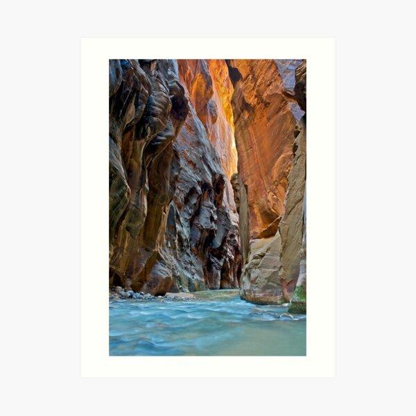 The Virgin Narrows, Utah Art Print