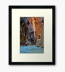 The Virgin Narrows, Utah Framed Print