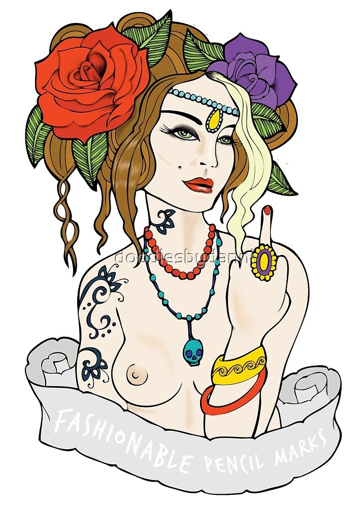 Tattoo Girl by doodlesbydanni
