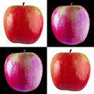 White & Black - Pink Apples by Bryan Freeman
