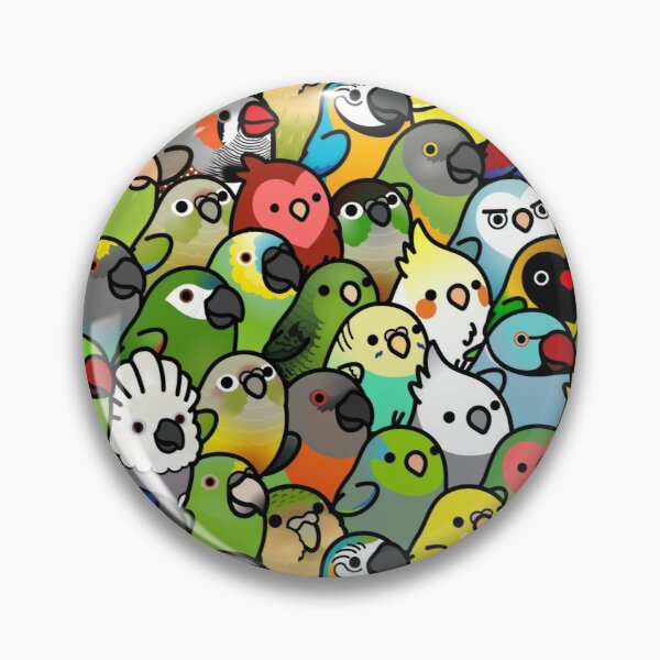 Everybirdy Pattern Pin