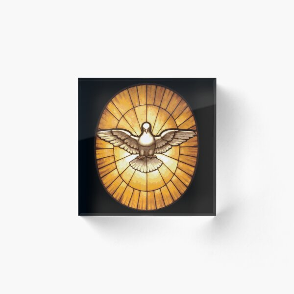 Holy Spirit Dove from St. Peter's Basilica Acrylic Block