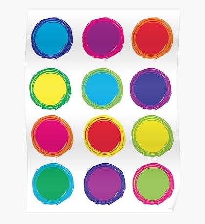 Colorful Circles Poster