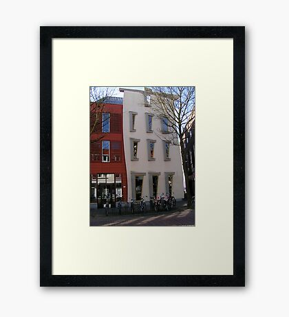 Creative architecture and pink saddles Framed Print