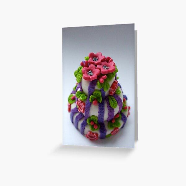 pink 'n' purple wedding cake Greeting Card