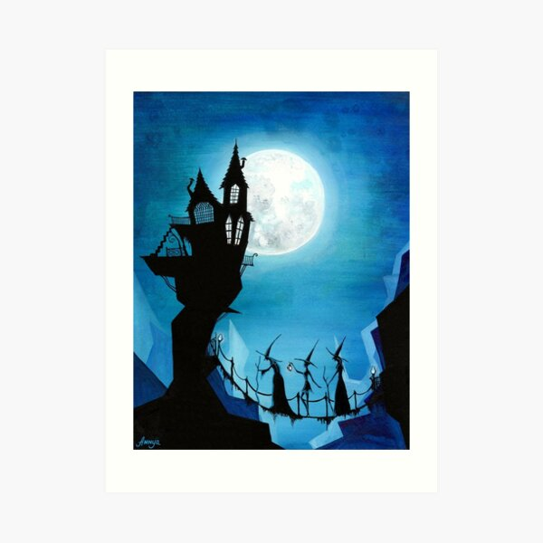 Witch Sisters Journey Home Art Print