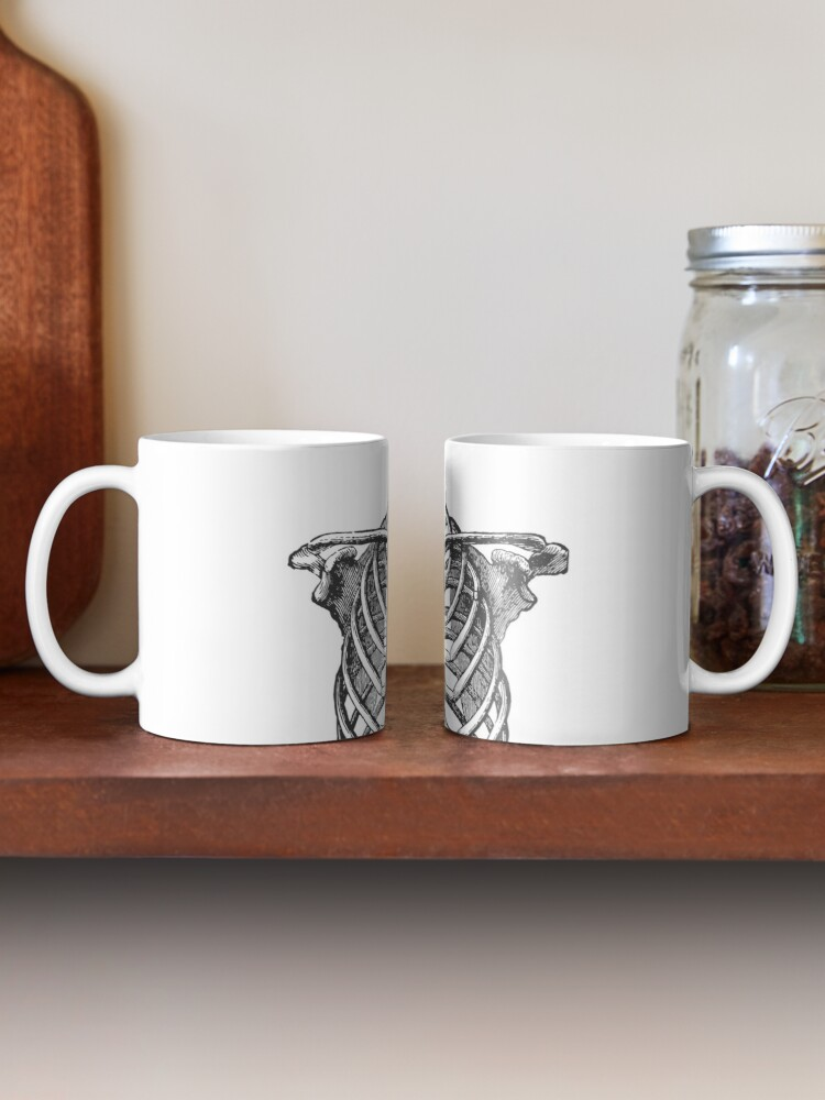Alternate view of Anatomical Ribcage • Large Print • Goth Art Mug