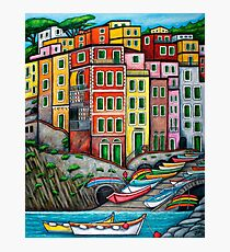 Colours of Riomaggiore, Cinque Terre Photographic Print