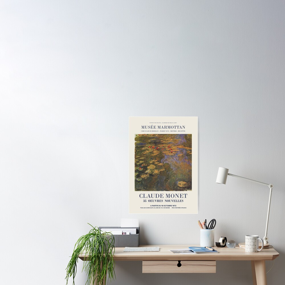 """Claude Monet - Exhibition poster advertising an art exhibition """"35 Oeuvres Nouvelles"""", 1975 Poster"""