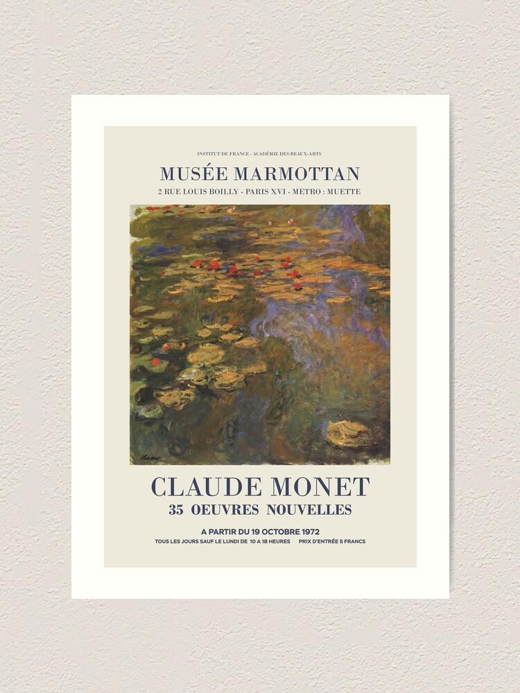 "Alternate view of Claude Monet - Exhibition poster advertising an art exhibition ""35 Oeuvres Nouvelles"", 1975 Art Print"